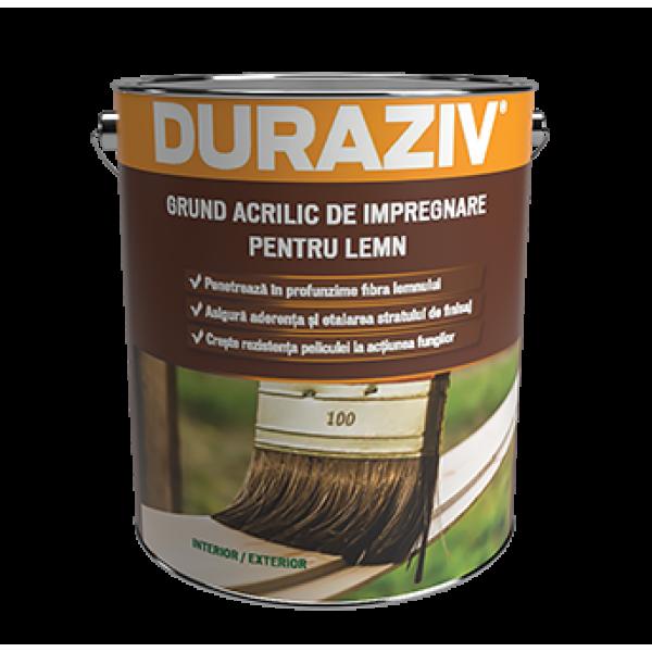 Grund acrilic de impregnare pentru lemn Duraziv,  2.5 l